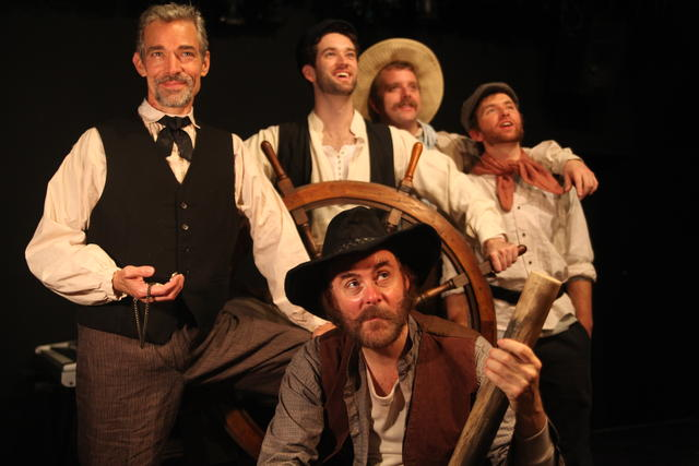 Richard Kent Green (front) with (l-r) Jeff Paul, Andrew Hubacher, Dewey Caddell, and Max Demers in Life on the Mississippi