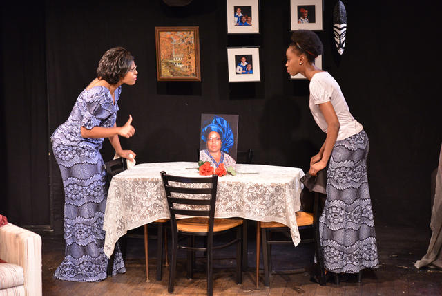 Jacquelyn Joyce Revere and Monique A. Robinson in Iyom at WorkShop Theater Company