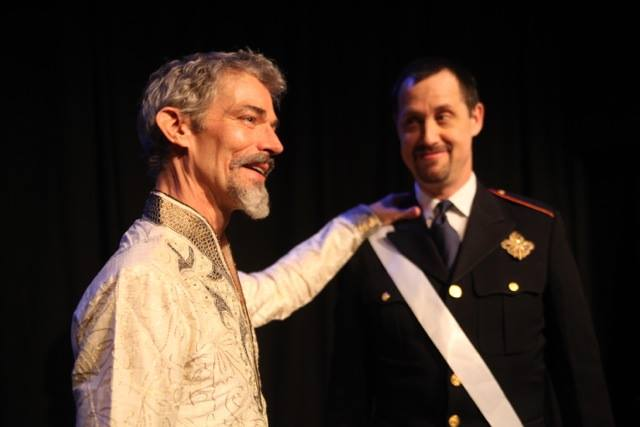 Jeff Paul  and Ethan Cadoff in The Winter's Tale