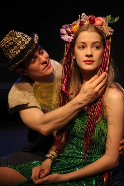 Jon-Michael Miller and Tess Frazer in The Winter's Tale